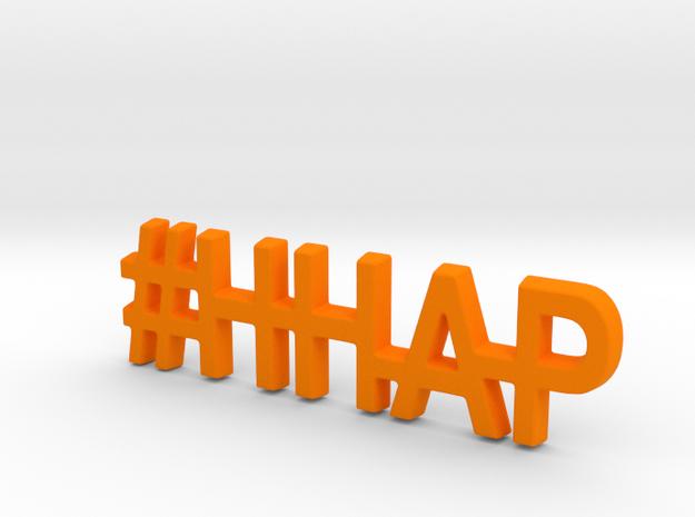 #HHAP Keychain in Orange Processed Versatile Plastic