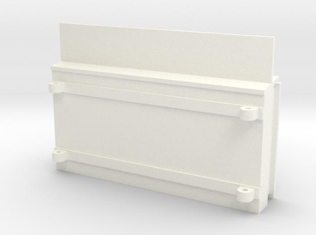 S2 -  Fahrplankasten in White Processed Versatile Plastic