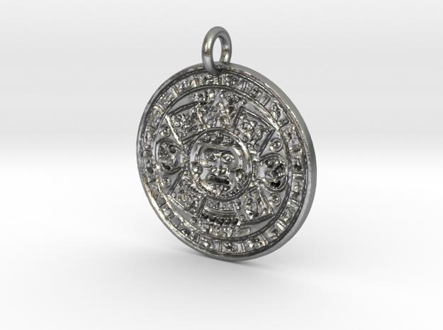 Mayan Majix Pendant FF in Natural Silver