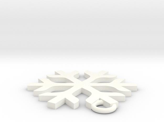 雪.stl in White Strong & Flexible Polished: Medium