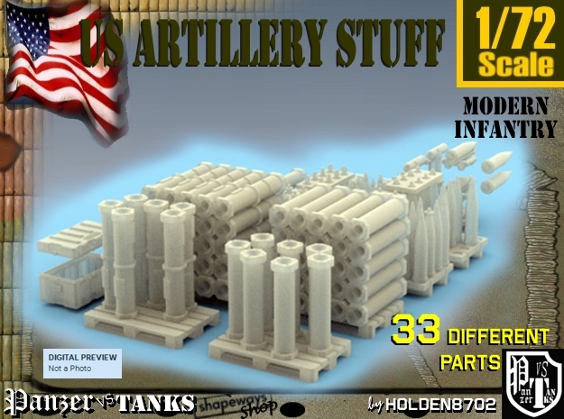 1-72 US Artillery Stuff in Frosted Ultra Detail