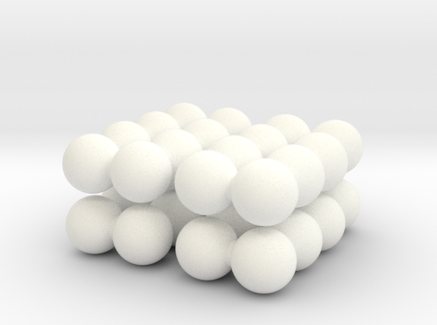Ell of a puzzle (spheres) 3d printed