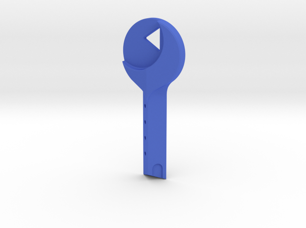 Mulholland Drive - Blue Key in Blue Processed Versatile Plastic