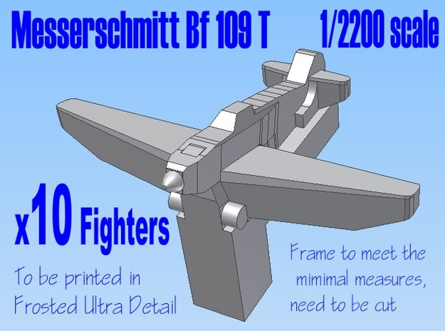 10 X 1-2200 Bf 109 T For FD 3d printed