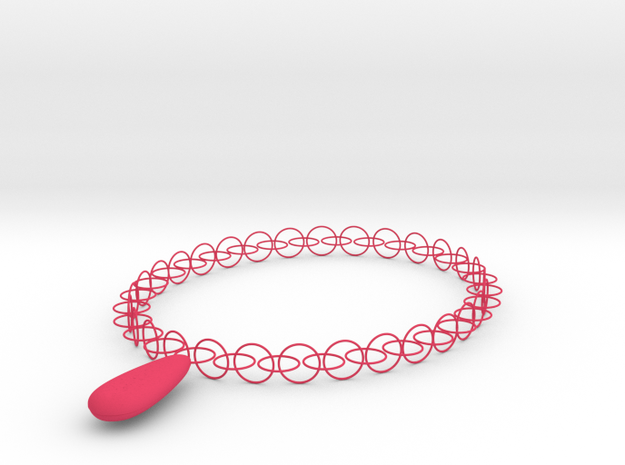 D.P Necklace in Pink Strong & Flexible Polished