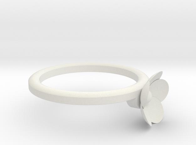 flower&leaves-1 in White Strong & Flexible