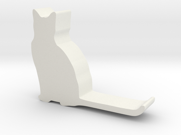 Cat hook 3 in White Natural Versatile Plastic