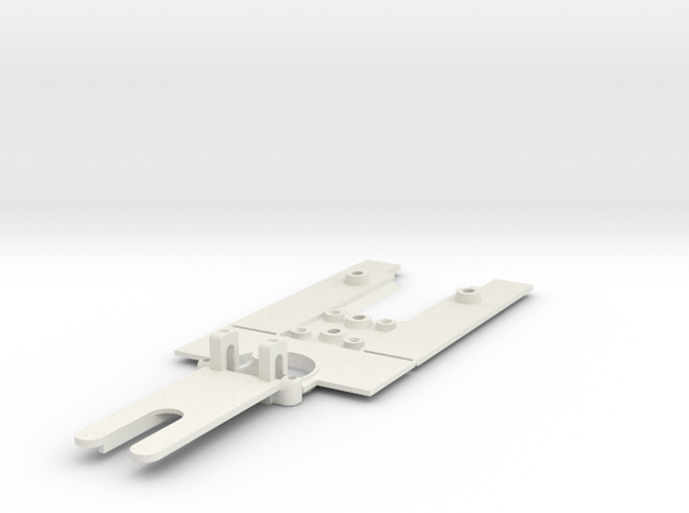 Scratchbuild Chassis Generic F1 in White Natural Versatile Plastic