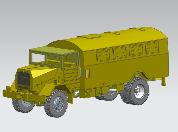 MAN 630 L2A,Koffer 1:160 Spur N in Smooth Fine Detail Plastic