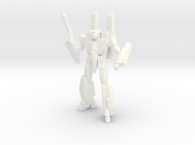 Super VF-1A Battroid 1/285 in White Processed Versatile Plastic
