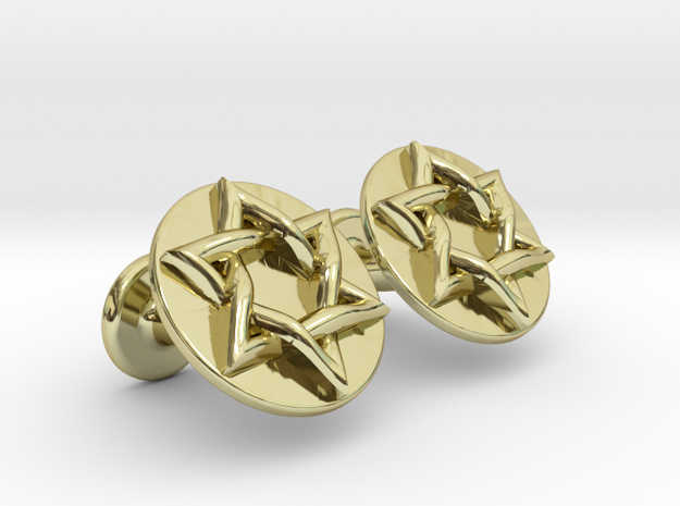 Magen David Cufflinks in 18k Gold Plated