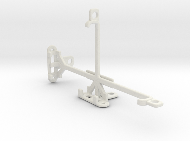 QMobile Noir X700 tripod & stabilizer mount in White Natural Versatile Plastic