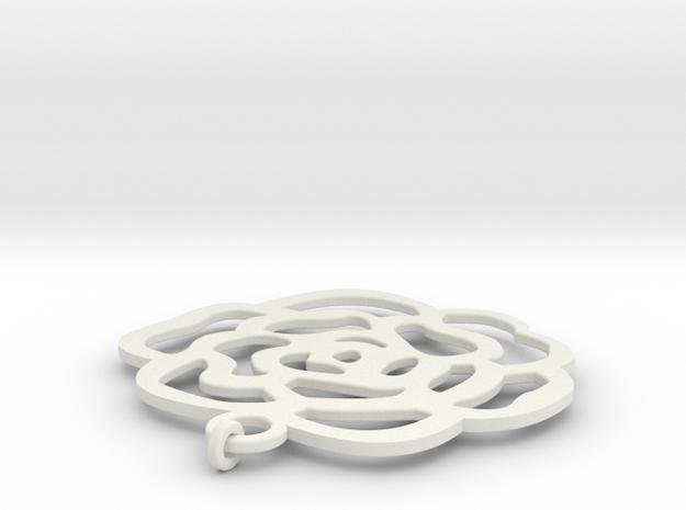 可愛風.stl in White Strong & Flexible: d3