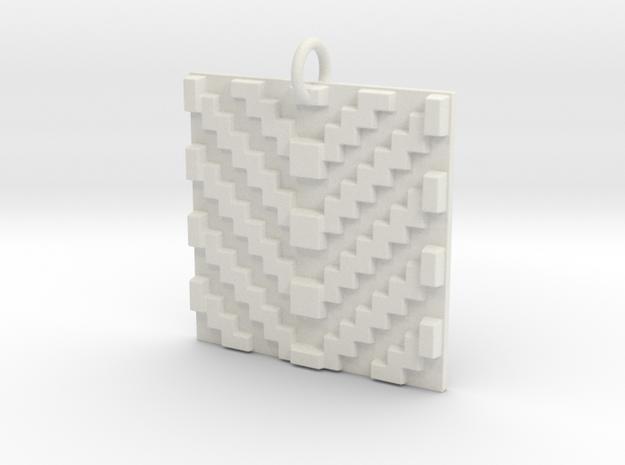 With the Grain Pendant in White Natural Versatile Plastic