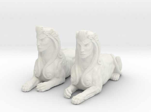 Pair of Sphinx Statues