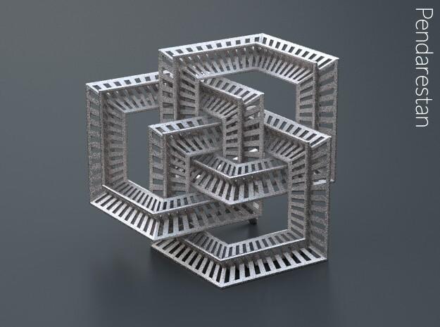 Borrocube in Polished Nickel Steel: Small