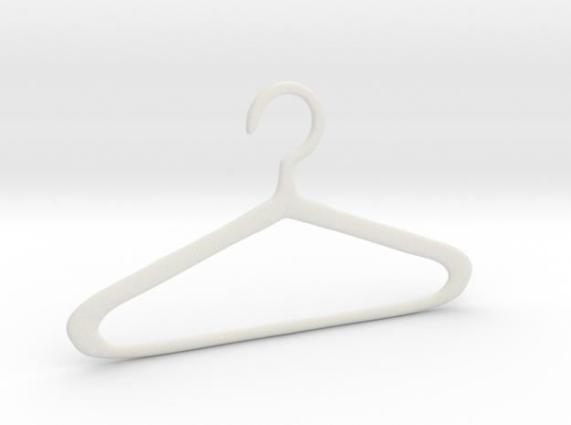Hanger in White Natural Versatile Plastic