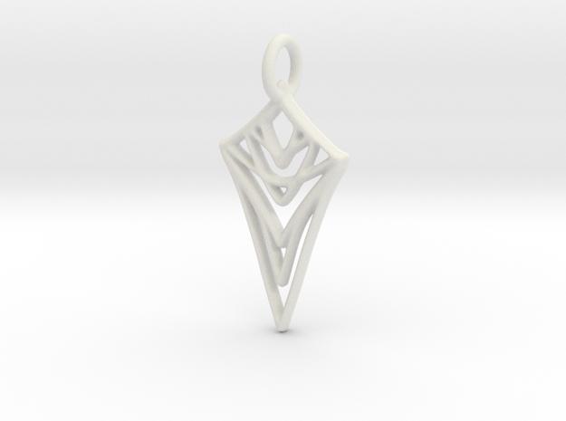 Melting Web Pendant in White Strong & Flexible: Medium