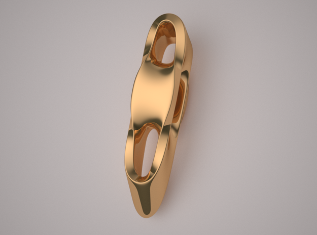 Triple Cube Brass 004 in Polished Brass