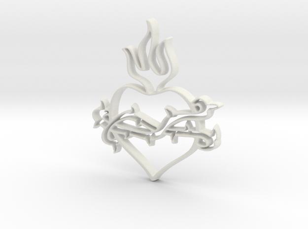 Heart 2 in White Natural Versatile Plastic