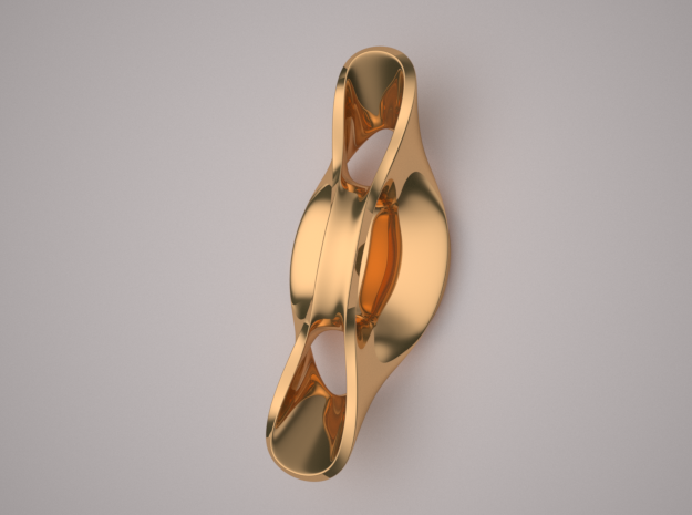 Triple Cube Brass 059 in Polished Brass