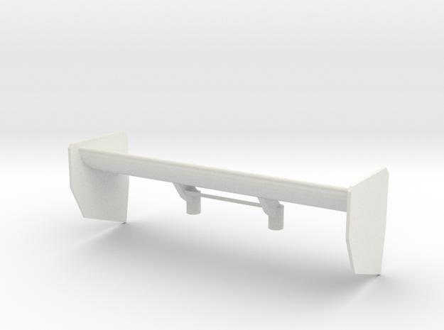 McLaren C12 Large Wing in White Natural Versatile Plastic