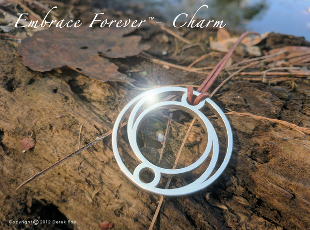 Embrace Forever™ - Charm (precious metals) in Polished Silver