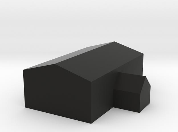 家.stl in Black Strong & Flexible: Medium
