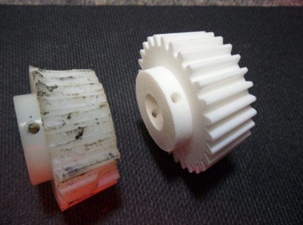 Sears/Craftsman Band Saw Bevel Gear - Part 341-299 in White Natural Versatile Plastic