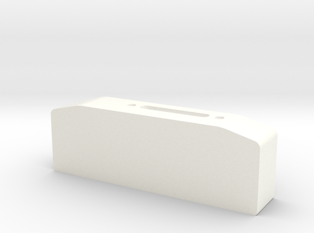 Winch box depth 25 mm for standard hawse fairlead  in White Strong & Flexible Polished