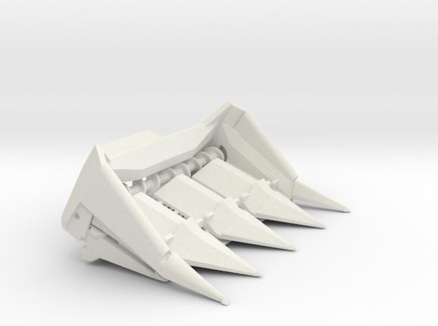 L/M 4 wide VIntage in White Natural Versatile Plastic