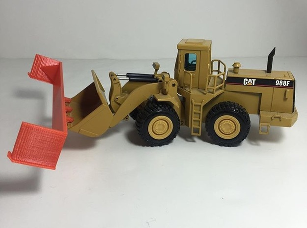 30 Foot Snow Pusher 1:50 Scale *MONSTER* in Red Processed Versatile Plastic