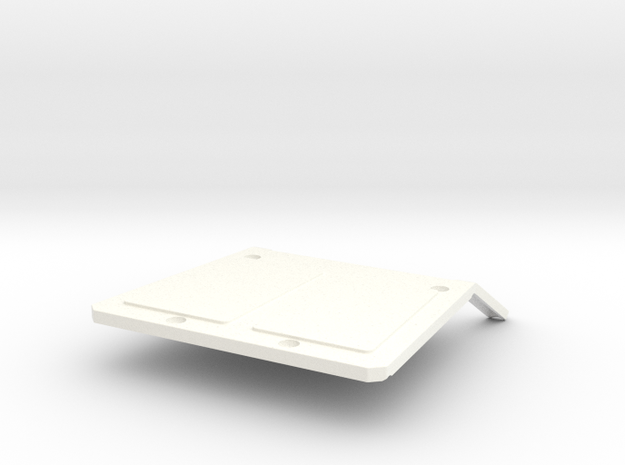 046006-02 FAV & Wild One Roof with Wing Mount in White Processed Versatile Plastic