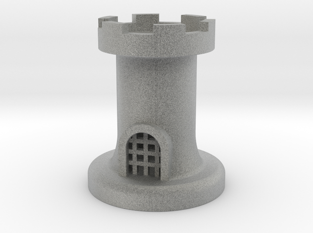 Castle for Chess in Metallic Plastic