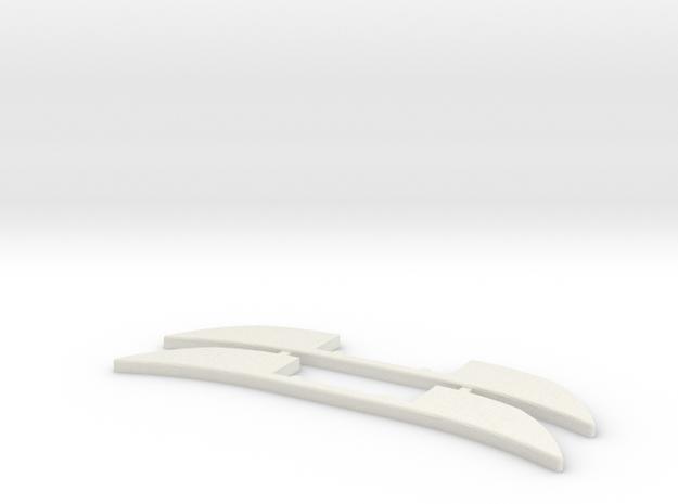 Renfort Mosler MiniZ 2pc in White Natural Versatile Plastic