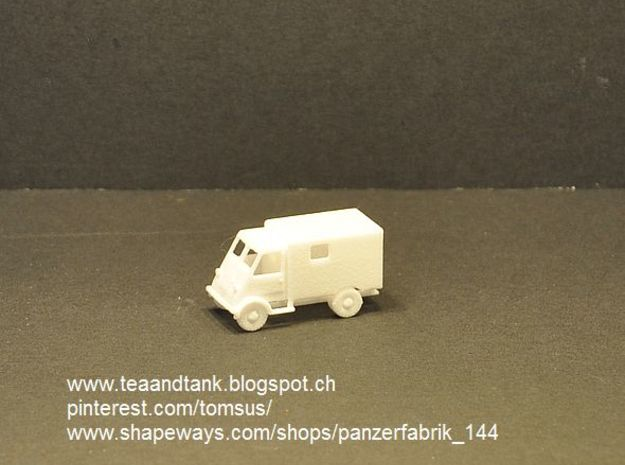 1/144 Peugeot DMA Ambulance  in White Strong & Flexible