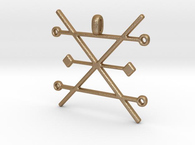 Copper Alchemy Symbol Pendant
