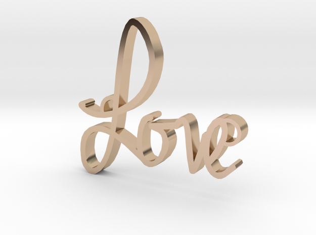 Love in 14k Rose Gold Plated Brass