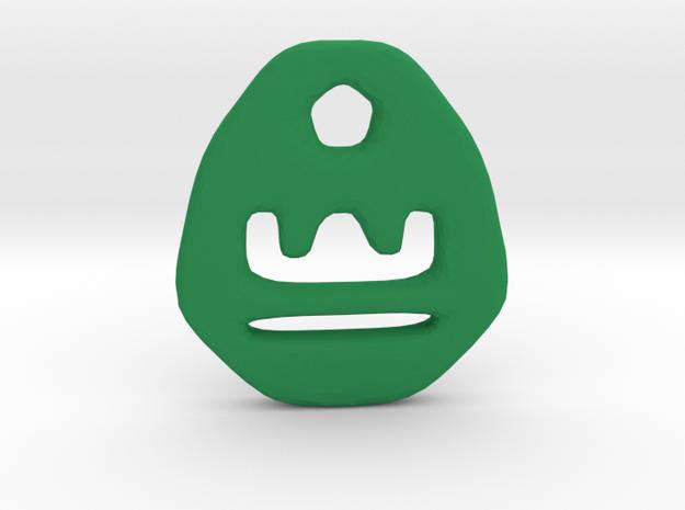Libra Zodiac Symbol Tag in Green Processed Versatile Plastic