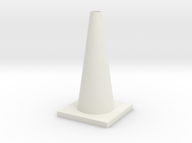 1/10 Scale Traffic Cone For RC  in White Strong & Flexible