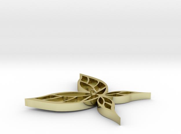 土 in 18k Gold Plated Brass