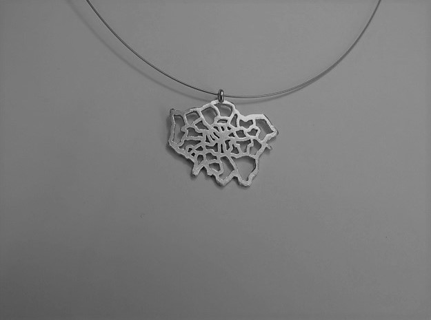 London Pendant in Natural Silver