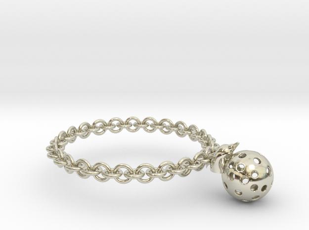 Dolphin Moon Bracelet in 14k White Gold