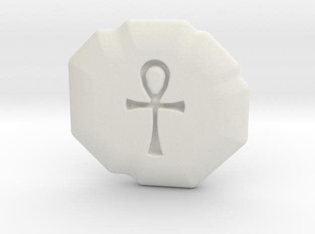 Spirituality Runestone in White Natural Versatile Plastic