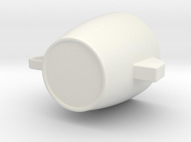 M-type grip cup in White Natural Versatile Plastic