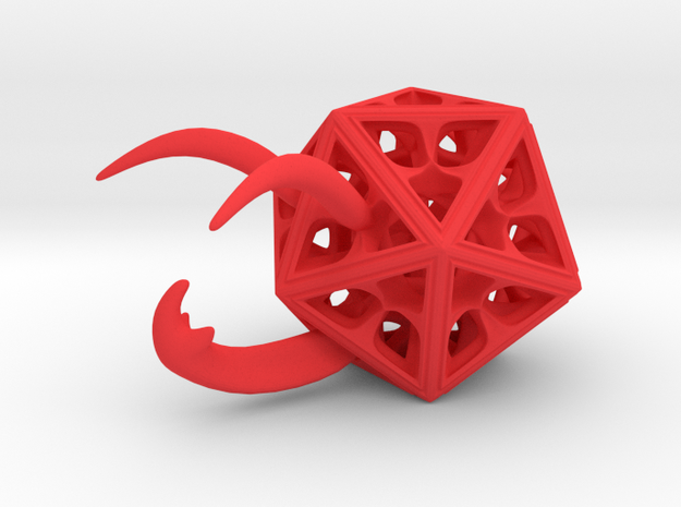 Beetle-Hedron in Red Strong & Flexible Polished