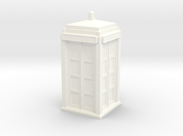 The Physician's Blue Box in 1/35 scale (Hollow) in White Strong & Flexible Polished