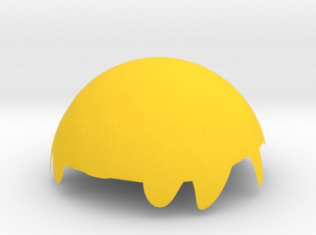 雕刻杯蓋 in Yellow Strong & Flexible Polished: Medium