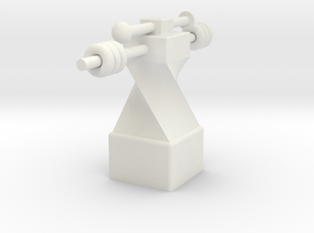 Small  fitness  trophy in White Natural Versatile Plastic