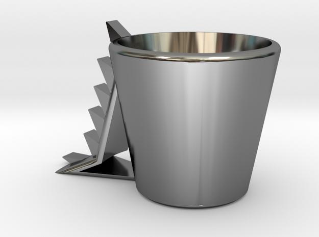 Dinosaur mug .stl in Premium Silver